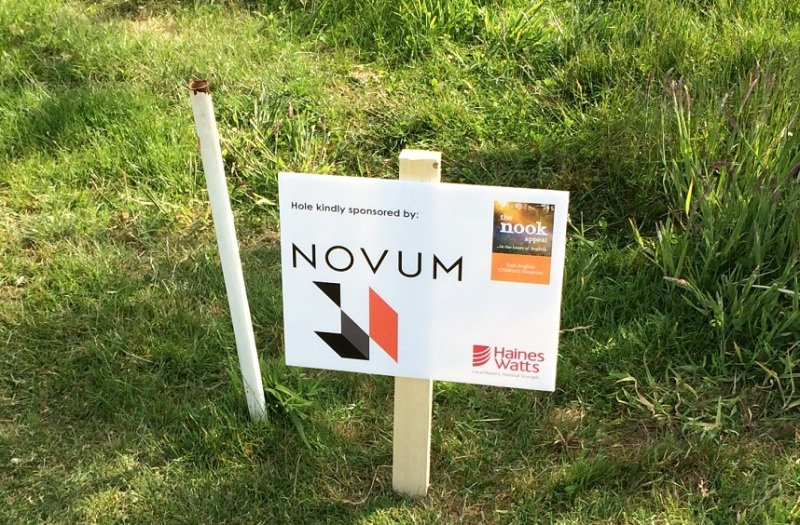 Golf sign, sponsorship board